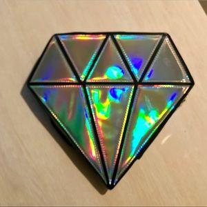 Holographic Diamond clutch